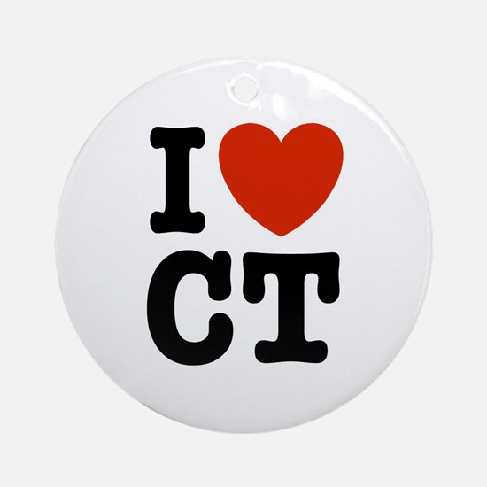 I Love CT Ornament (Round)