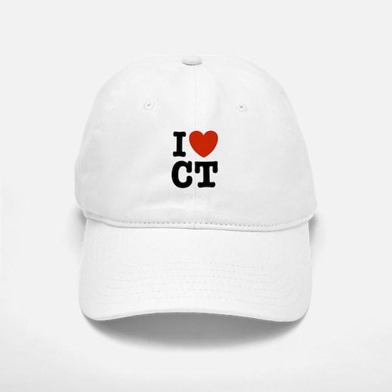 I Love CT Baseball Baseball Cap