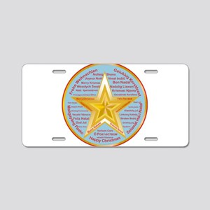 Merry Christmas World Aluminum License Plate