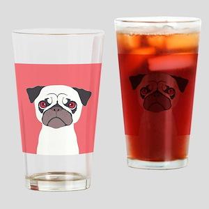 Pug Drinking Glass