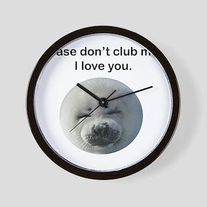 Don't Club Me Wall Clock