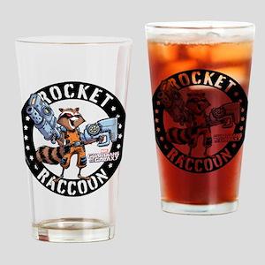 GOTG Comic Rocket Guns Drinking Glass