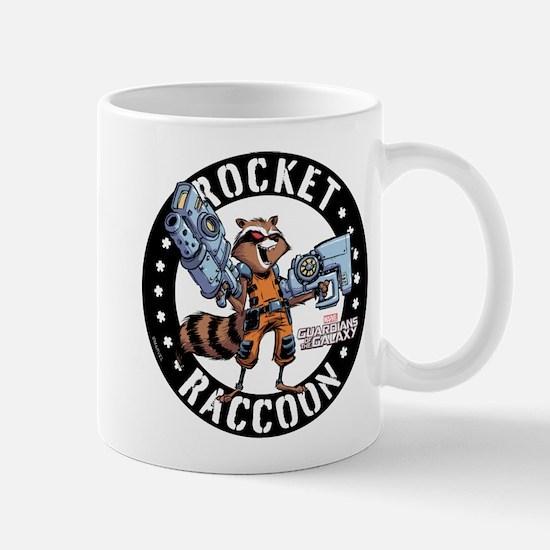 GOTG Comic Rocket Guns Mug