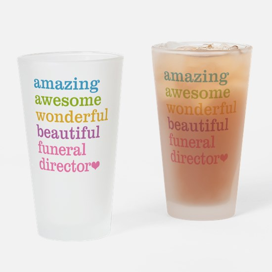 Amazing Funeral Director Drinking Glass