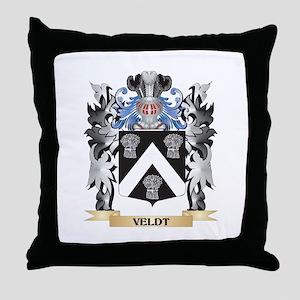 Veldt Coat of Arms - Family Crest Throw Pillow