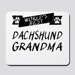 Worlds Best Dachshund Grandma Mousepad