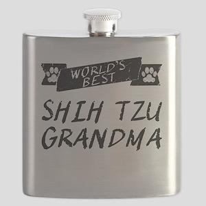 Worlds Best Shih Tzu Grandma Flask