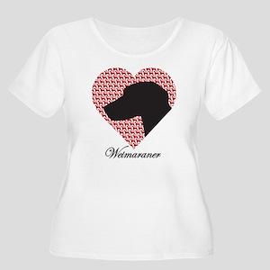 WEIMARANER Women's Plus Size Scoop Neck T-Shirt
