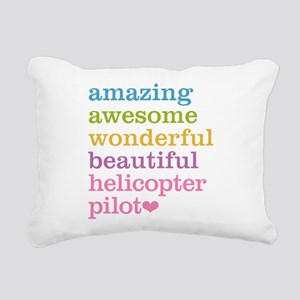 Amazing Helicopter Pilot Rectangular Canvas Pillow
