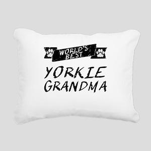 Worlds Best Yorkie Grandma Rectangular Canvas Pill