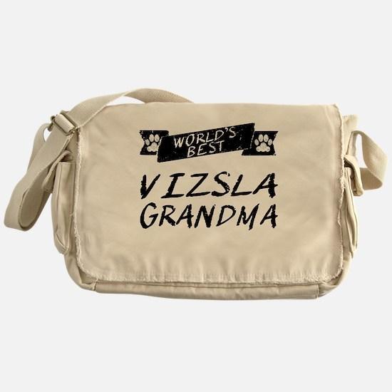 Worlds Best Vizsla Grandma Messenger Bag