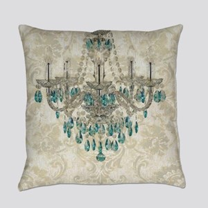 shabby chic damask vintage chandel Everyday Pillow