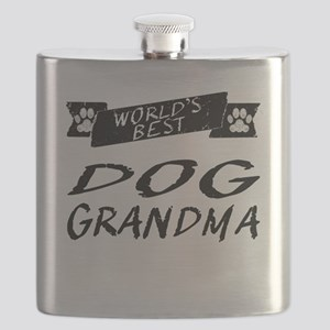 Worlds Best Dog Grandma Flask