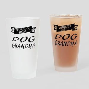 Worlds Best Dog Grandma Drinking Glass