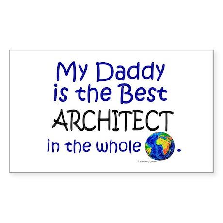 Best Architect In The World (Daddy) Sticker (Recta