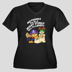 Garfield Stingy Candy Plus Size T-Shirt