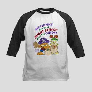 Garfield Stingy Candy Kids Baseball Jersey