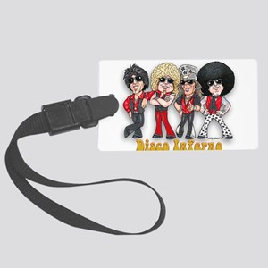 Disco Inferno Cartoon 1 Luggage Tag