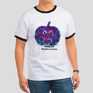 Spooky Pumpkin Clouds Design T-Shirt