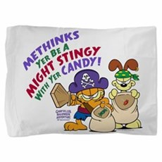 Garfield Stingy Candy Pillow Sham