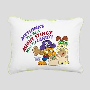 Garfield Stingy Candy Rectangular Canvas Pillow