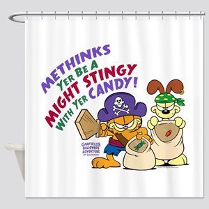 Garfield Stingy Candy Shower Curtain