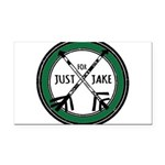 Just For Jake Logo - Green Rectangle Car Magnet