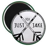 Just For Jake Logo - Green Magnet