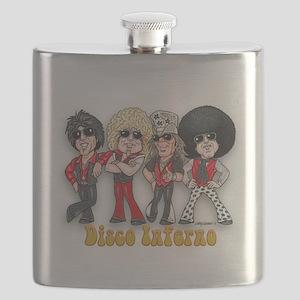 Disco Inferno Cartoon 1 Flask