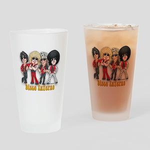 Disco Inferno Cartoon 1 Drinking Glass