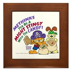 Garfield Stingy Candy Framed Tile