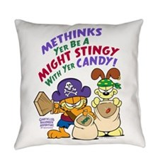 Garfield Stingy Candy Everyday Pillow