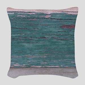 Peeling Paint Woven Throw Pillow