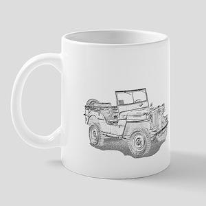 42 Ford GPW in Pencil Mug