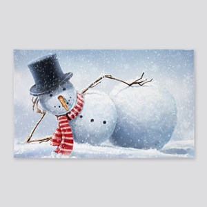 Relaxed Snowman Area Rug