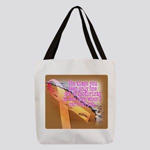 Breast cancer survivor. Lord ca Polyester Tote Bag
