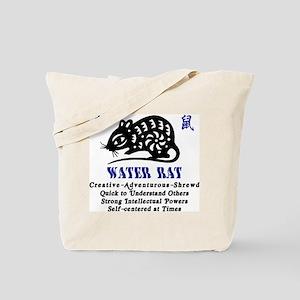 Chinese Zodiac Water Rat Tote Bag