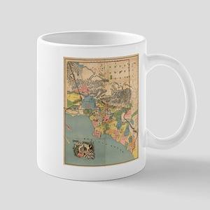 Vintage Map of Los Angeles County CA (1888) Mugs