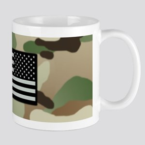 Woodland Camouflage Pattern with 11 oz Ceramic Mug