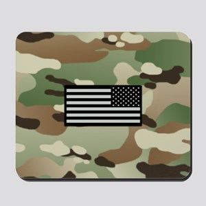 Woodland Camouflage Pattern with IR Flag Mousepad