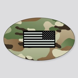 Woodland Camouflage Pattern with IR Sticker (Oval)