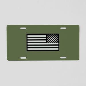 IR U.S. Flag on Military Gr Aluminum License Plate