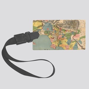 Vintage Map of Los Angeles Count Large Luggage Tag