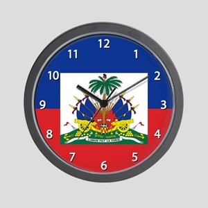 Haiti Flag Wall Clock