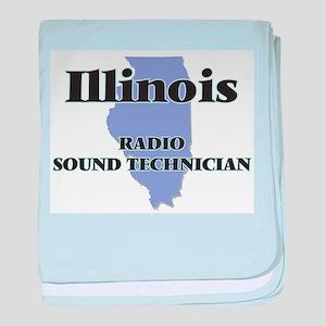 Illinois Radio Sound Technician baby blanket