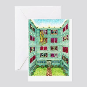 Girdners Rapunzel in the City Greeting Cards