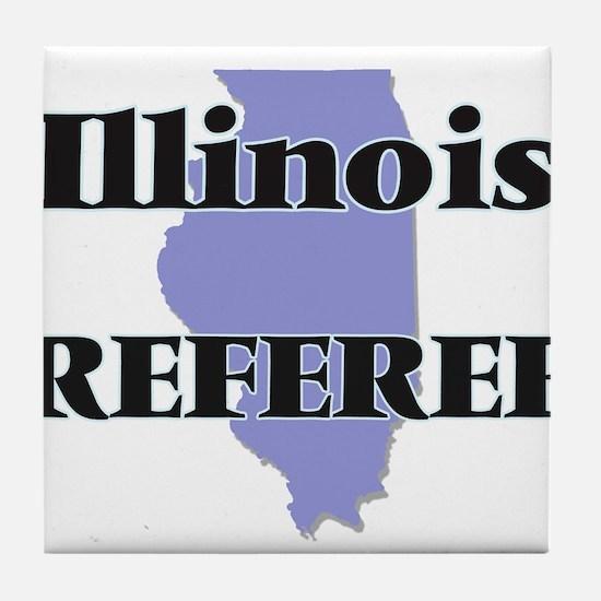 Illinois Referee Tile Coaster