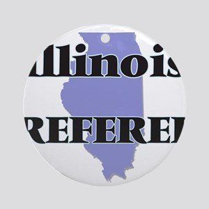 Illinois Referee Round Ornament