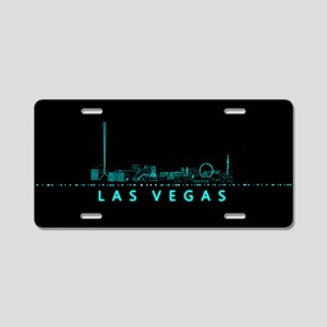 Digital Cityscape: Las Vega Aluminum License Plate
