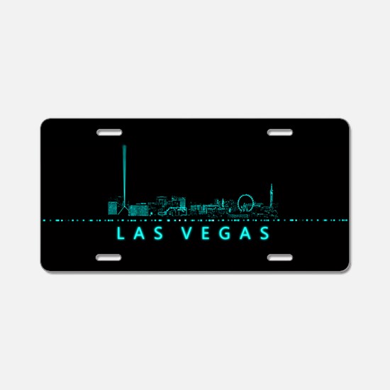 Digital Cityscape: Las Vega Aluminum License Plate